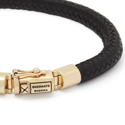Bracelet Bennett Leather Gold 14kt