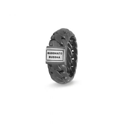 Ring Ben Small Black Rhodium Silber