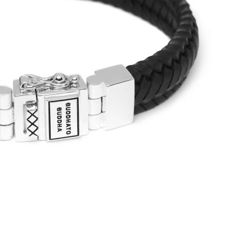 Bracelet Edwin Small Leather Black