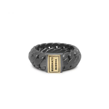 Ring Ben Small Black Rhodium Gold 14kt