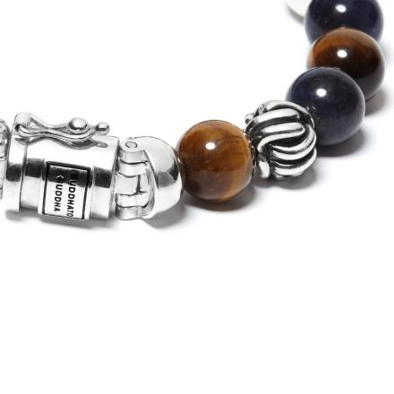 Bracelet Spirit Bead Mix Sodalite Tiger  eye