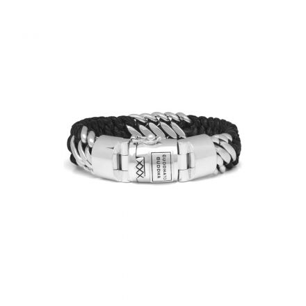 Bracelet Ben Mix Silver Leather  Black